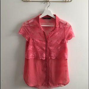 Zara Trafaluc Collection Lace Blouse